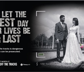 Stay off the Tracks - Photography campaign