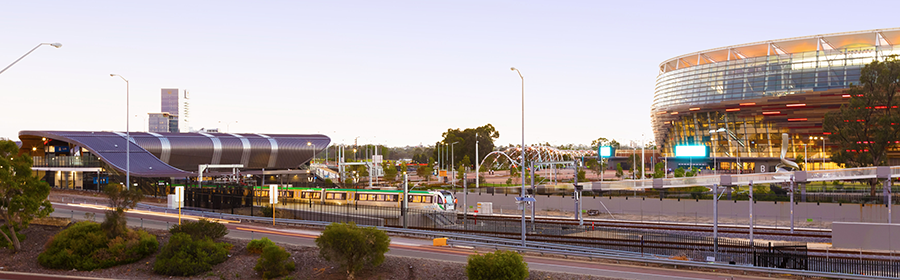 Optus Stadium and Perth Stadium Station