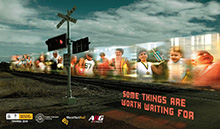 Level crossing safety campaign banner
